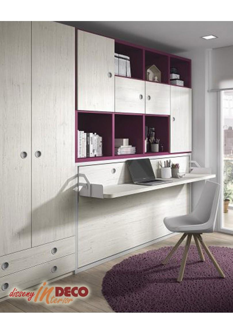 Increíble Dormitorio Cama Abatible Fotos De Cama Ideas